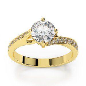 2.75 carats Four Prong set diamonds Wedding ring y